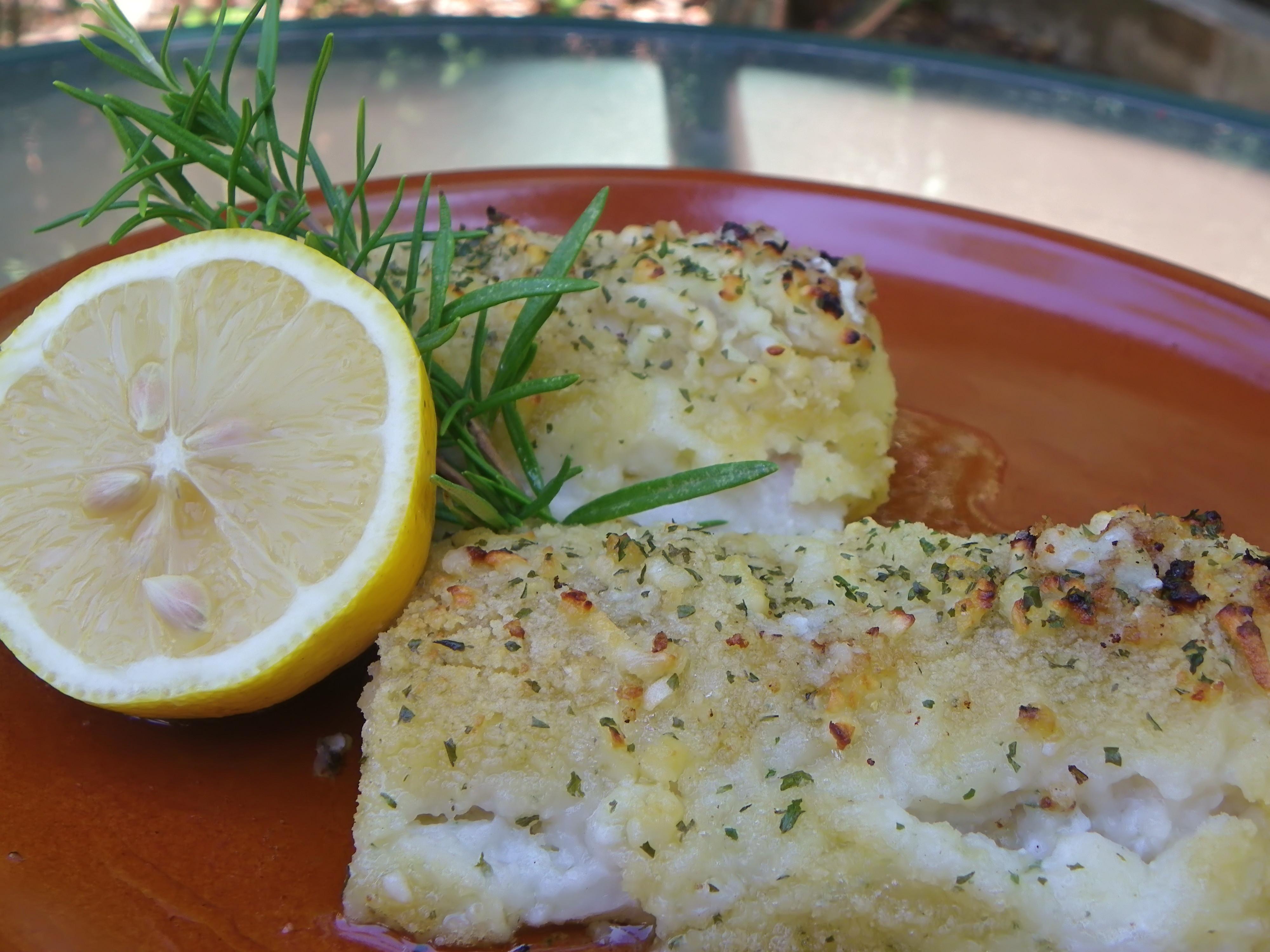 Bacalao al horno con pan rallado y ajo blue jellybeans - Cocinar bacalao congelado ...