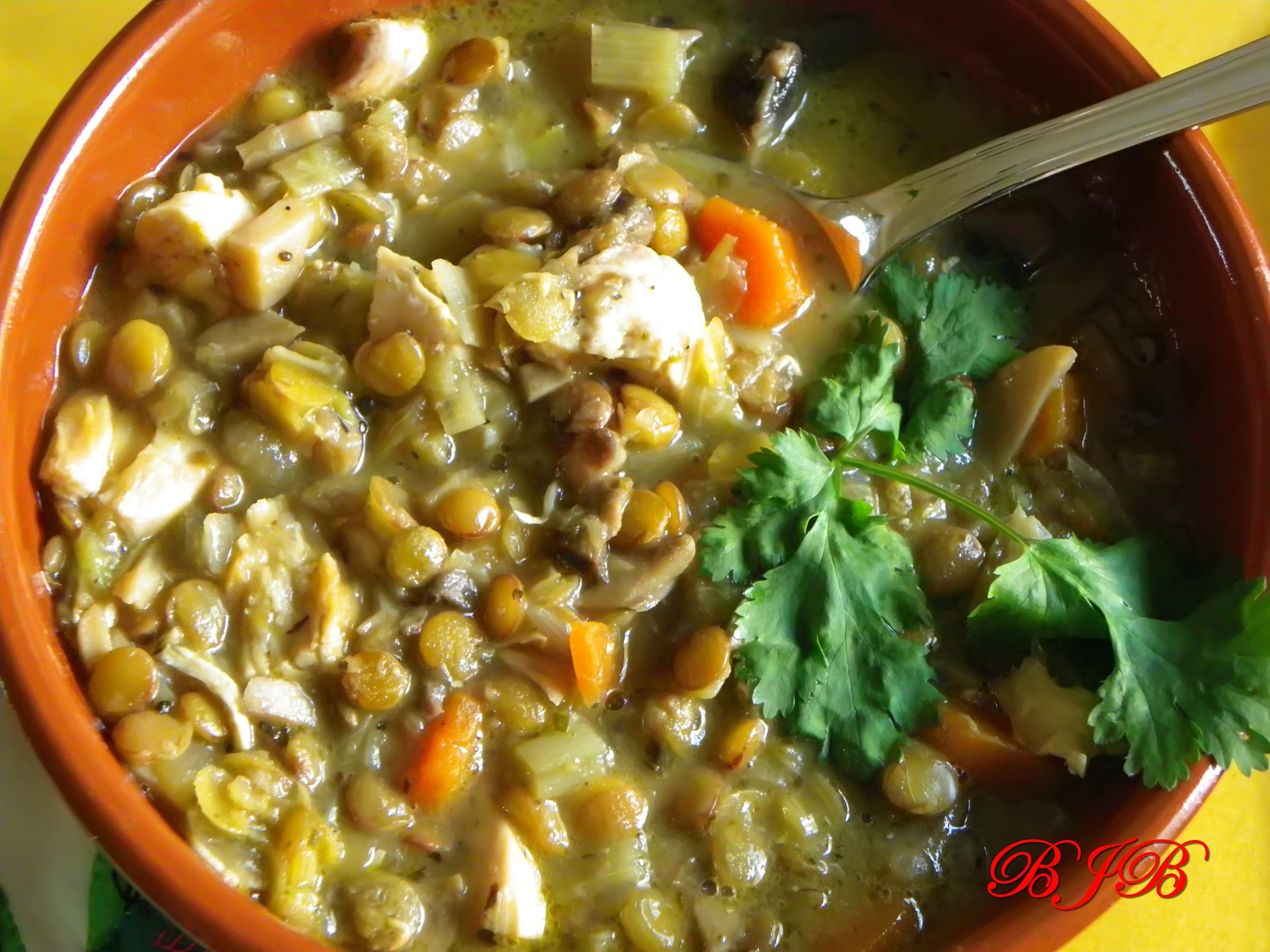 Lentejas Con Pollo Sopa de Pollo y Lentejas