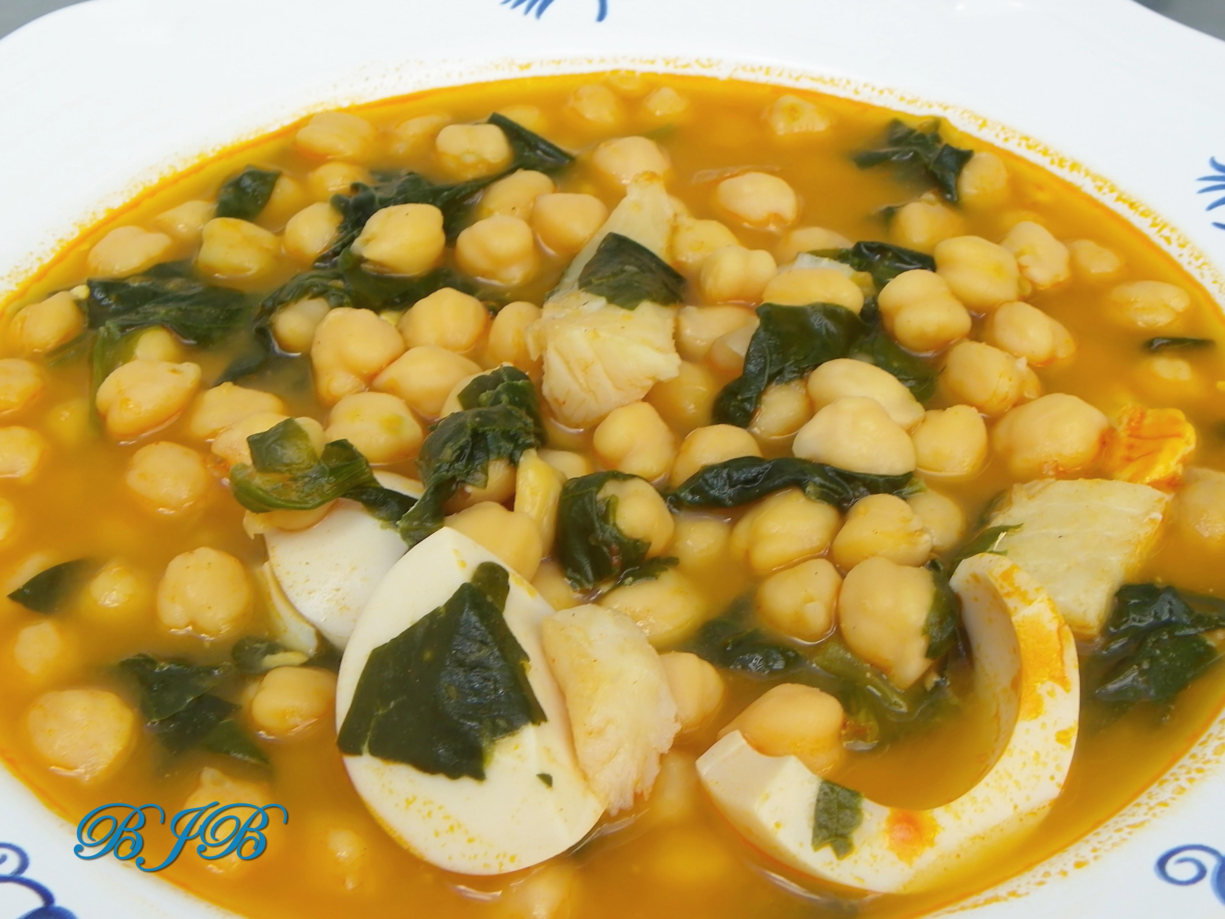 Bluejellybeans potaje de garbanzos con bacalao - Bacalao con garbanzos y patatas ...