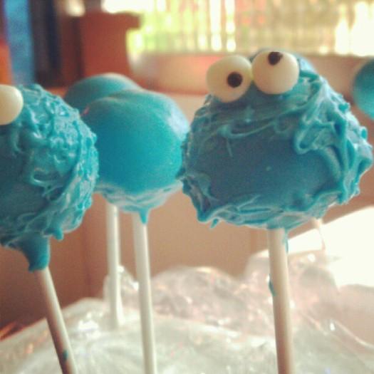 Cake pops del Monstruo de las galletas