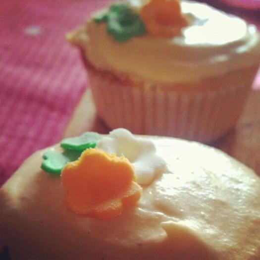 Cupcakes de fruta de la pasión
