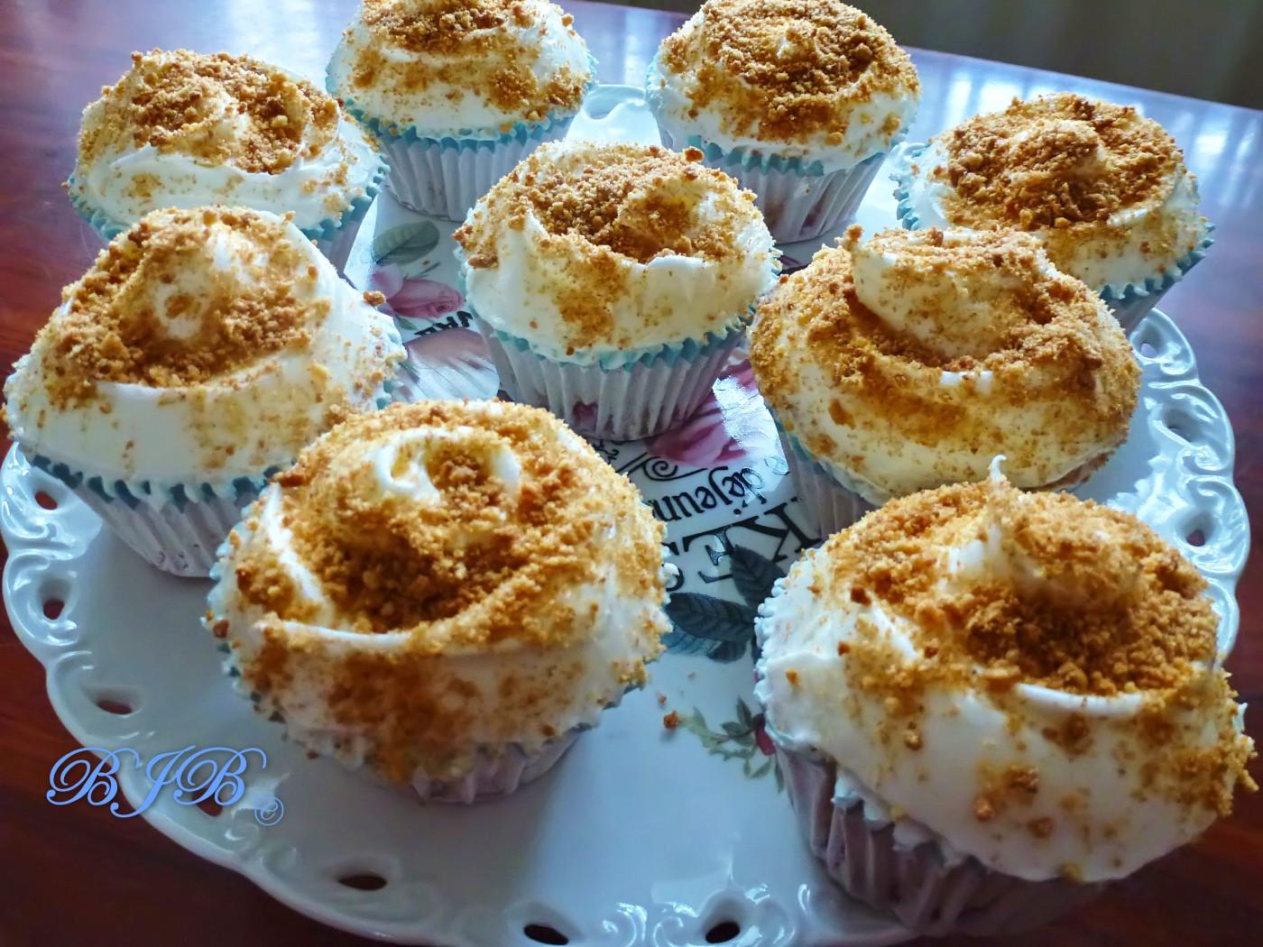 Cupcakes de tarta de fresa