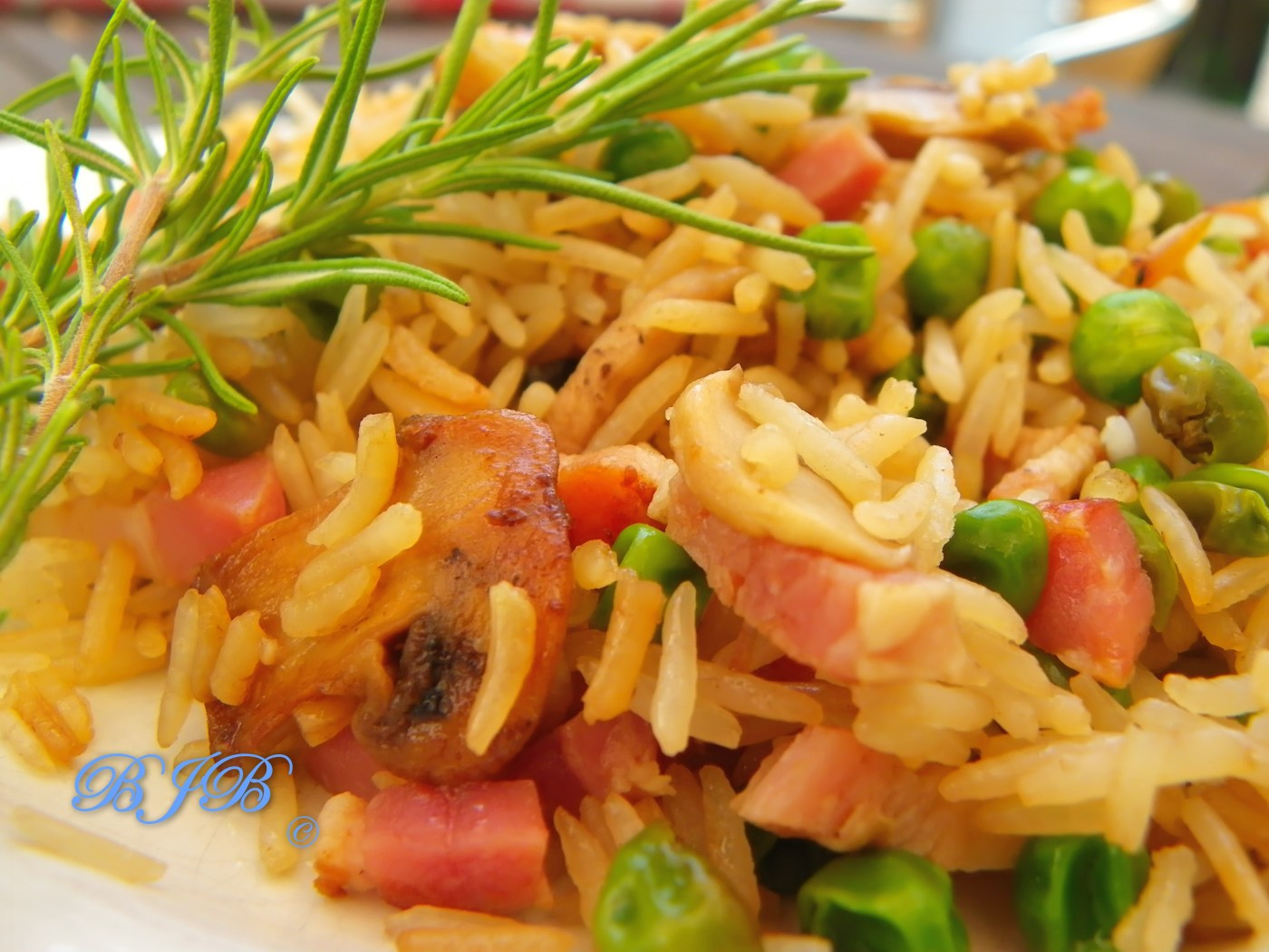 Three delights fried rice
