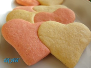 Valentine cookies with a touch of ginger
