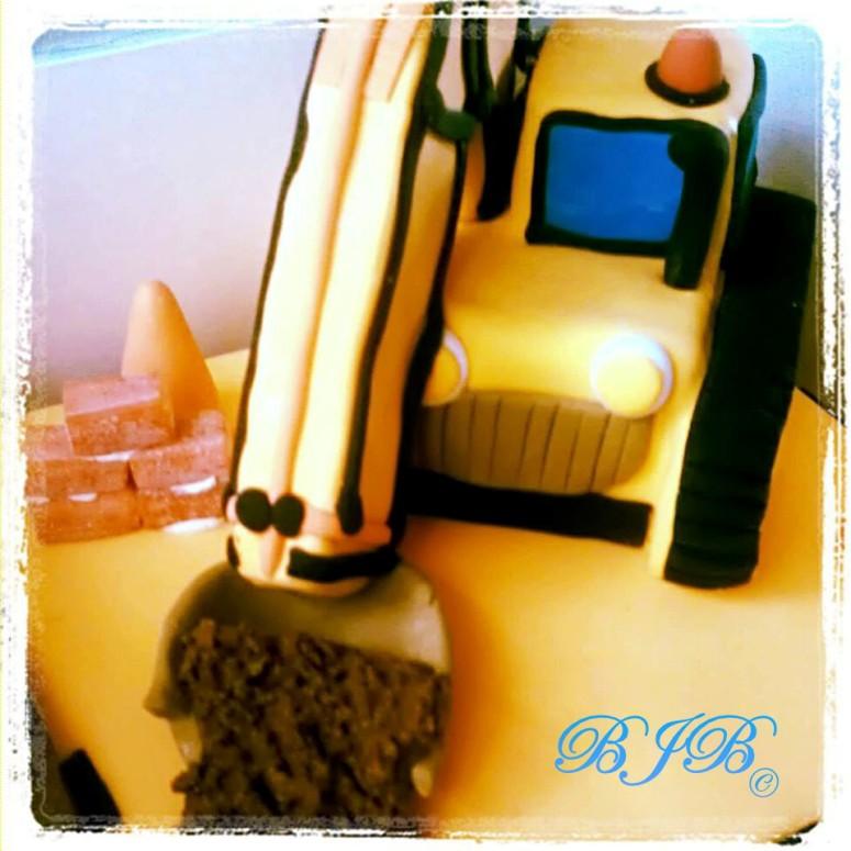 Digger cake for Nico