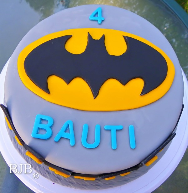 Tarta Batman de chocolate
