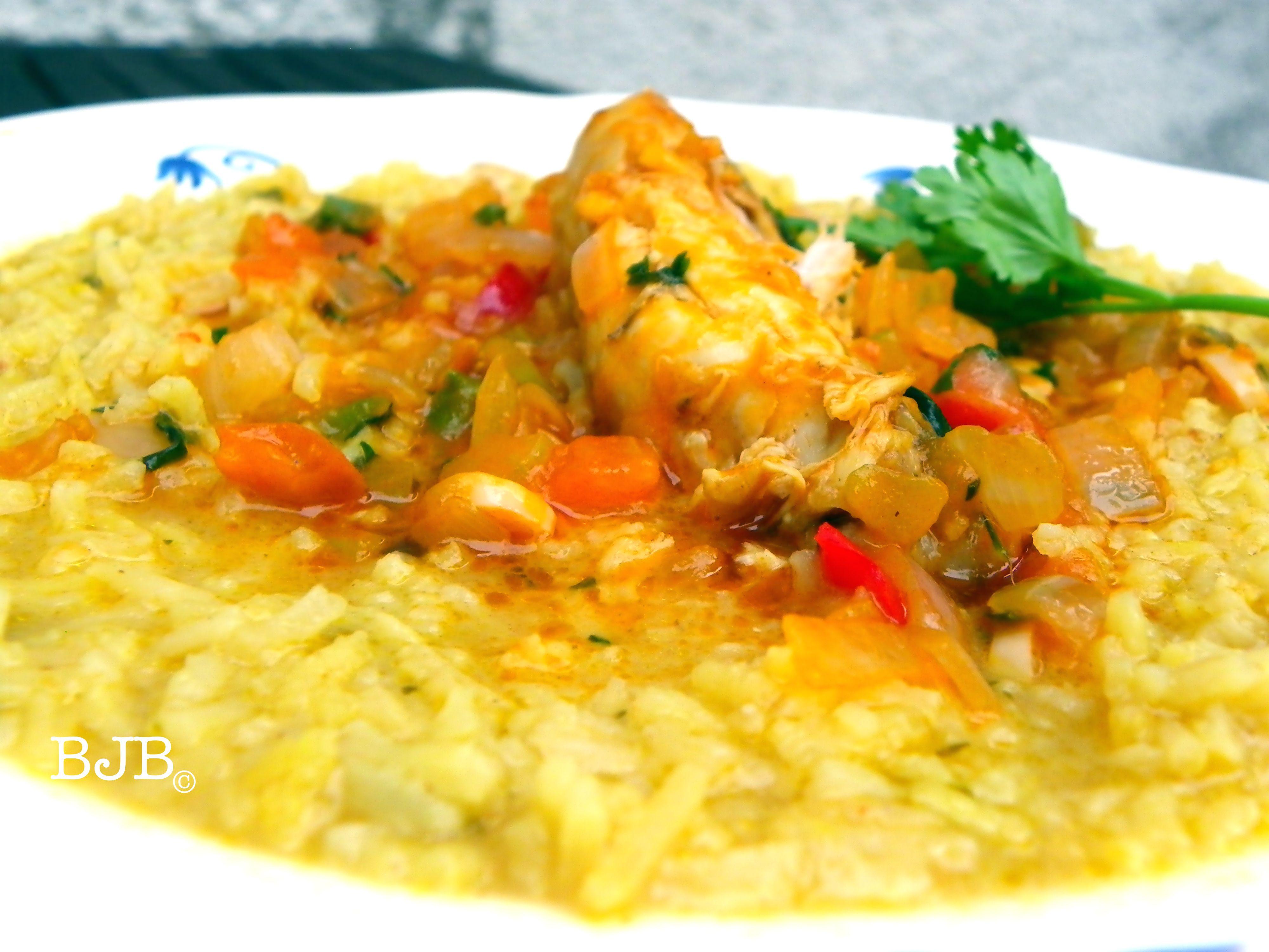 Guacho De Pollo Chicken Wet Rice