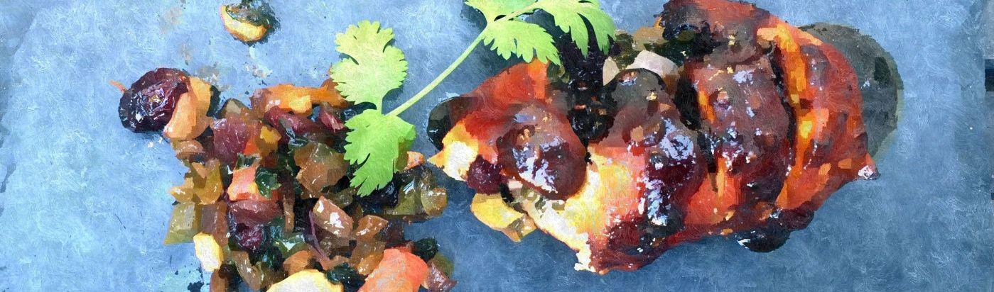 Rollito de pollo con salsa de tamarindo